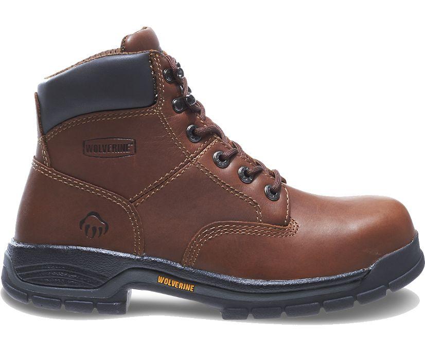 """Harrison 6"""" Steel-Toe Work Boot, Brown, dynamic"""
