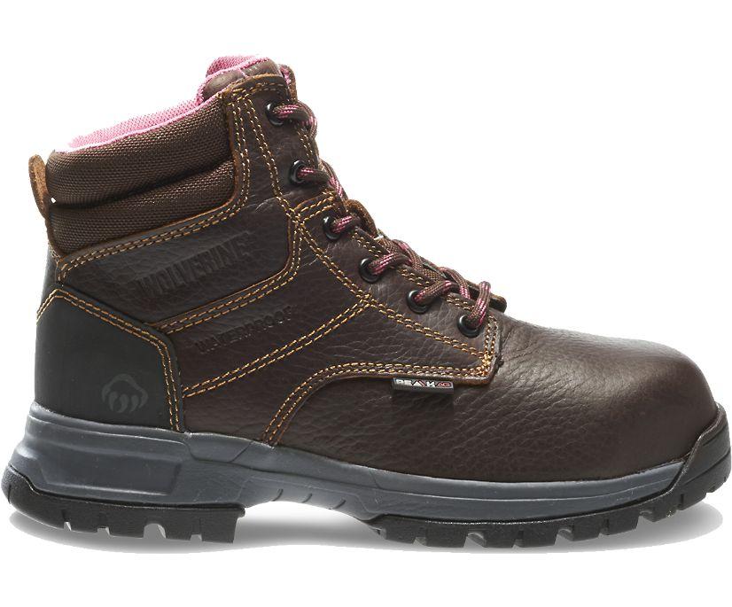 "Piper Waterproof Composite-Toe 6"" Work Boot, Brown, dynamic"