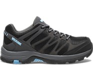 Fletcher Low CarbonMAX®  Waterproof Hiking Shoe, Grey/Blue, dynamic