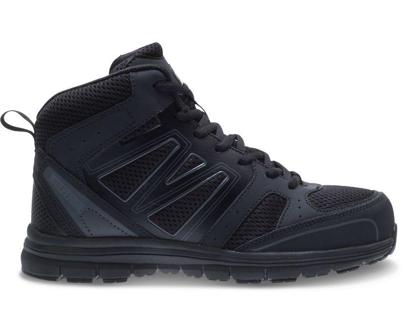 Nimble FX Waterproof Steel Toe Hiker, Black, dynamic