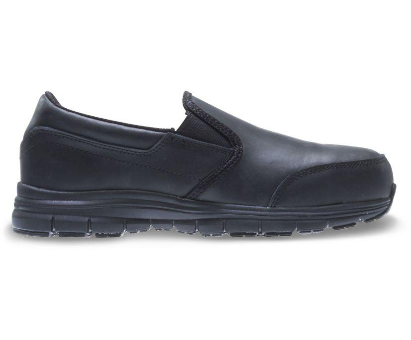 Nimble LX CSA Steel Toe Slip-On Work Shoe, Black, dynamic