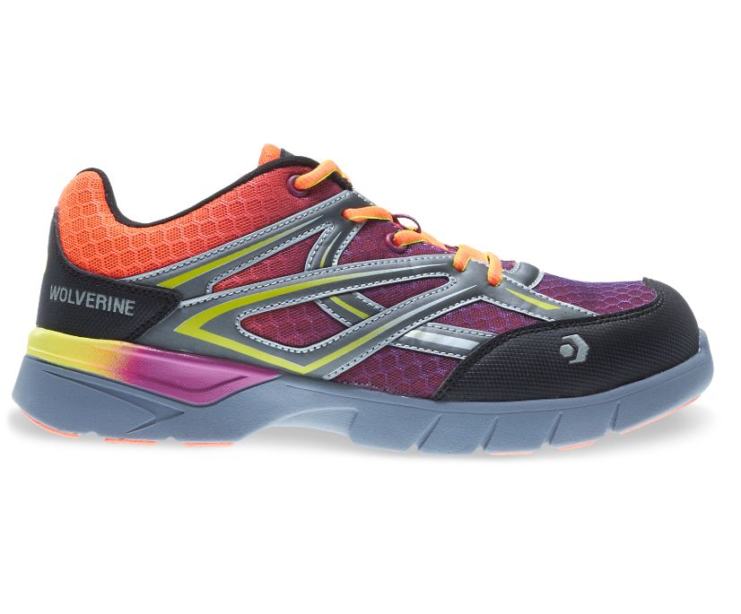 Jetstream CarbonMax Safety Toe Shoe, Orange/Purple, dynamic