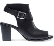 Piper Open-Toe Boot, Black Leather, dynamic