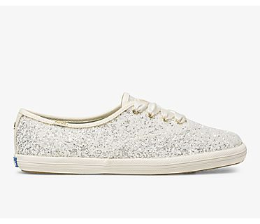 Keds x kate spade new york Champion Glitter, Cream Glitter, dynamic