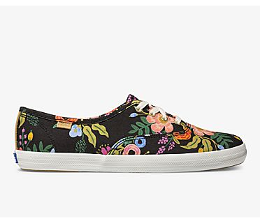 Keds x Rifle Paper Co. Champion Lively Floral, Black, dynamic