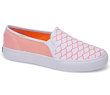 Keds x Alaina Marie Double Decker Mesh Waves, Coral, dynamic
