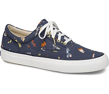 Keds x Rifle Paper Co. Anchor Wanderlust, Navy, dynamic
