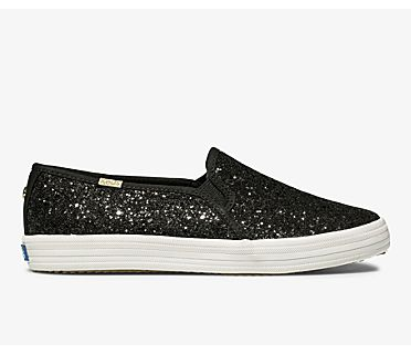 Keds x kate spade new york Double Decker Glitter, Black, dynamic