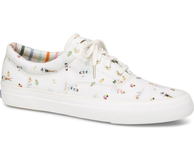 Keds x Rifle Paper Co. Anchor Sun Girls, Cream Multi, dynamic