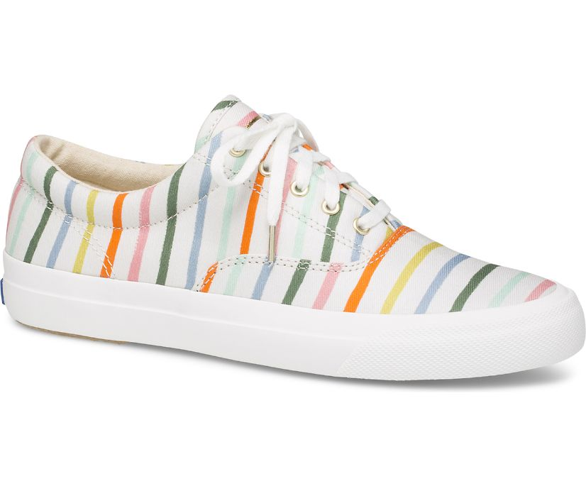 Keds x Rifle Paper Co. Anchor Happy Stripe, Cream Multi, dynamic