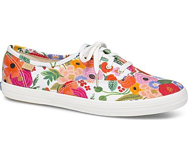 Keds x Rifle Paper Co. Champion Garden Party, White Multi, dynamic