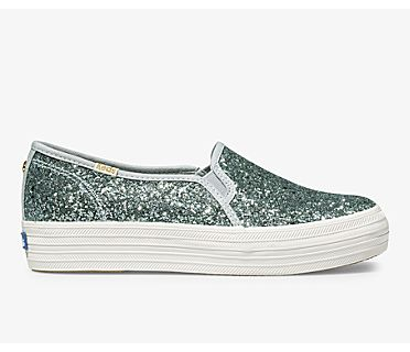 Keds x kate spade new york Triple Decker Glitter, Lt Blue, dynamic