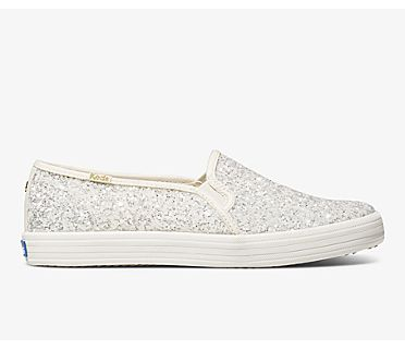 Keds x kate spade new york Double Decker Glitter, Cream, dynamic