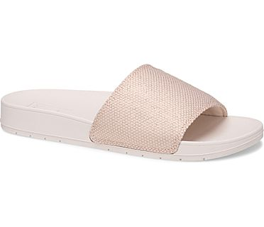 Bliss II Metallic Mesh Sandal, Rose Gold, dynamic