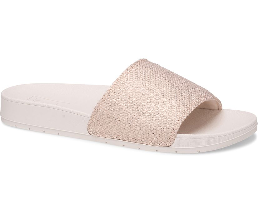 Bliss II Metallic Mesh Sandal, Rose Gold, dynamic