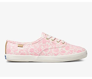 Keds x Rifle Paper Co. Champion Moxie Floral, Neon Pink, dynamic