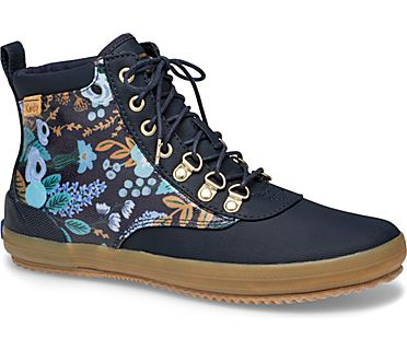 Cyber Keds x Rifle Paper Co. Scout Water-Resistant Boot Garden Party, Navy Multi, dynamic
