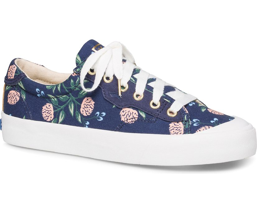 Keds x Rifle Paper Co. Crew Kick 75 Peonies, Navy Multi, dynamic
