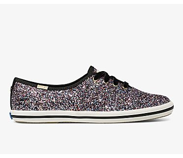Keds x kate spade new york Champion Glitter, Pink Multi, dynamic