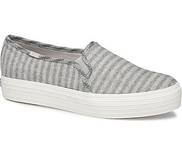 Triple Decker Subtle Chambray Stripe, Lt Gray, dynamic