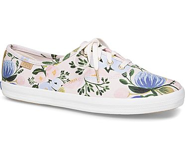 Keds x Rifle Paper Co.  Champion Botanical, Pink Multi, dynamic