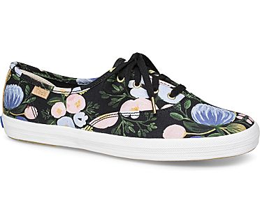 Keds x Rifle Paper Co.  Champion Botanical, Black Multi, dynamic
