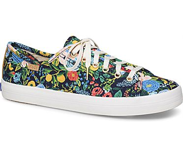 Keds x Rifle Paper Co. Kickstart Garden Party, Navy Multi, dynamic