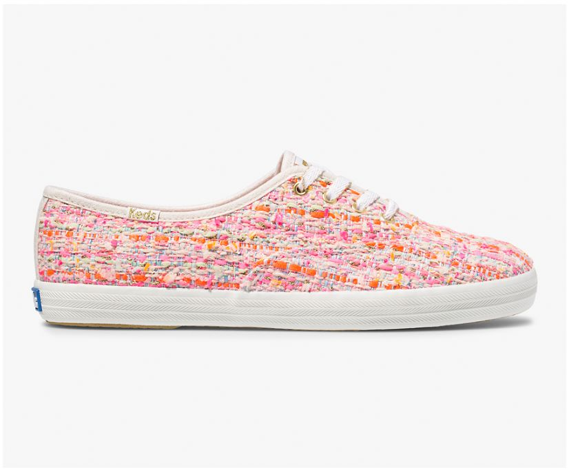 Keds x Oh Joy! Champion Woven, Pink Multi, dynamic