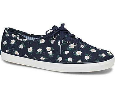 Keds x Draper James Champion Magnolia, Navy, dynamic