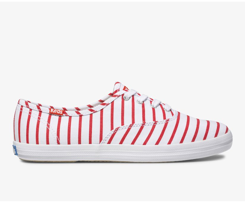 Champion Breton Stripe, White Red, dynamic