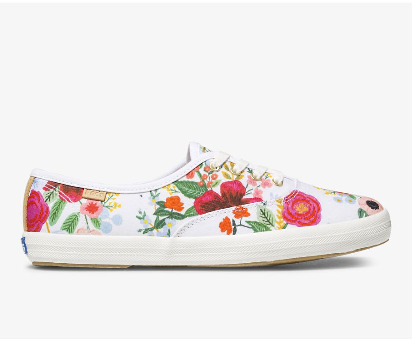 Keds x Rifle Paper Co. Champion Wild Rose, White, dynamic