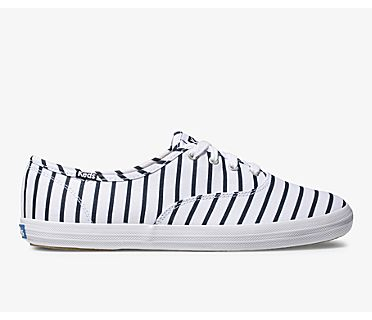 Champion Breton Stripe, White Navy, dynamic