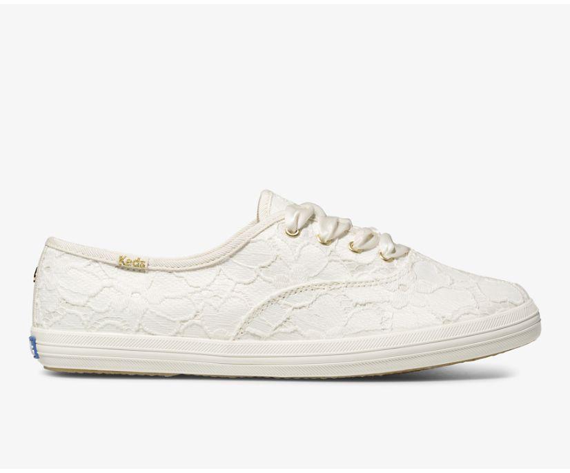 Keds x kate spade new york Champion Lace, Off White, dynamic