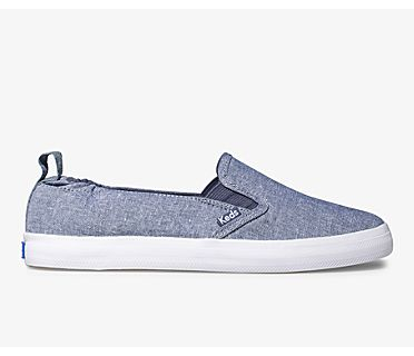 Darcy Slip On Chambray, Blue, dynamic