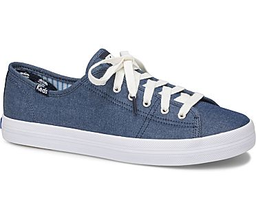 Keds x Draper James Kickstart Chambray, Navy, dynamic