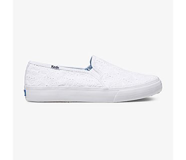 Keds x Draper James Double Decker Eyelet, White, dynamic