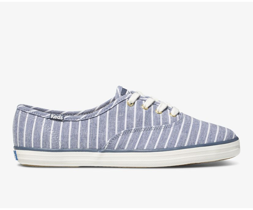 Champion Chambray Breton Stripe, Blue, dynamic