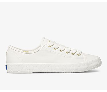 Keds x kate spade new york Kickstart Logo Foxing, White, dynamic