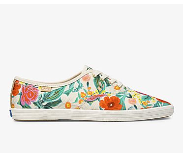 Keds x Rifle Paper Co. Vintage Champion Orangerie, Natural Multi, dynamic