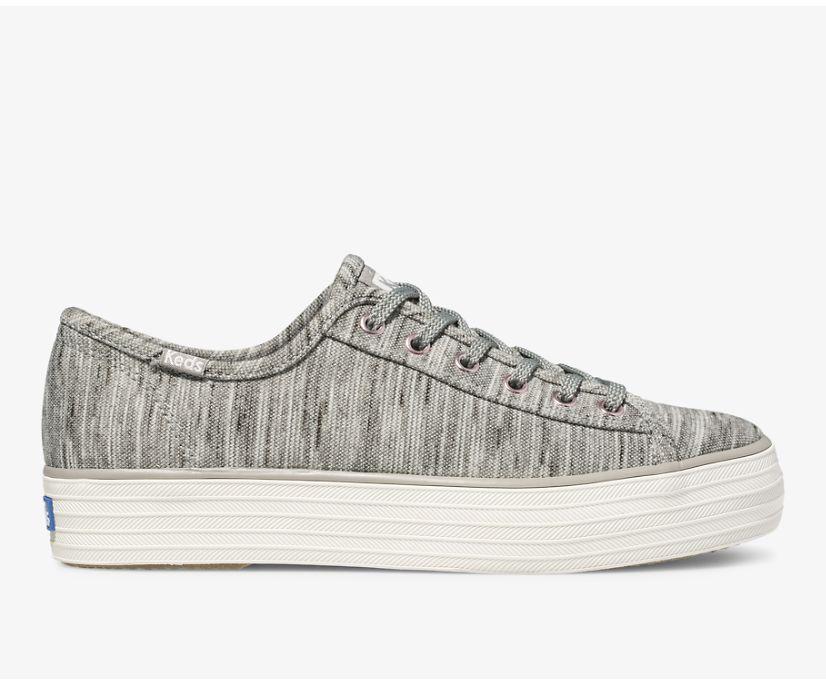 Triple Kick Heathered Stripe Knit, Grey, dynamic