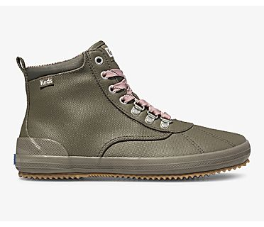 Scout Boot II Water-Resistant Canvas, Military Olive, dynamic