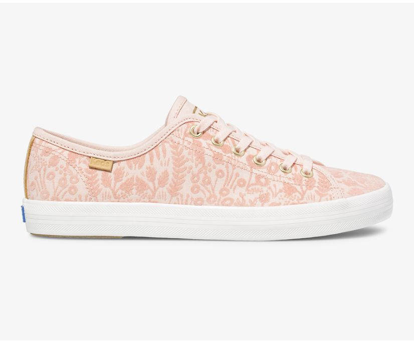 Keds x Rifle Paper Co Kickstart Tapestry, Peach, dynamic