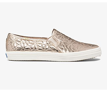 Keds x kate spade new york Double Decker Quilted Nylon, Champagne, dynamic
