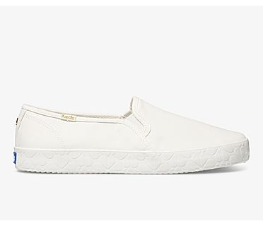 Keds x kate spade new york Double Decker Logo Foxing, White, dynamic