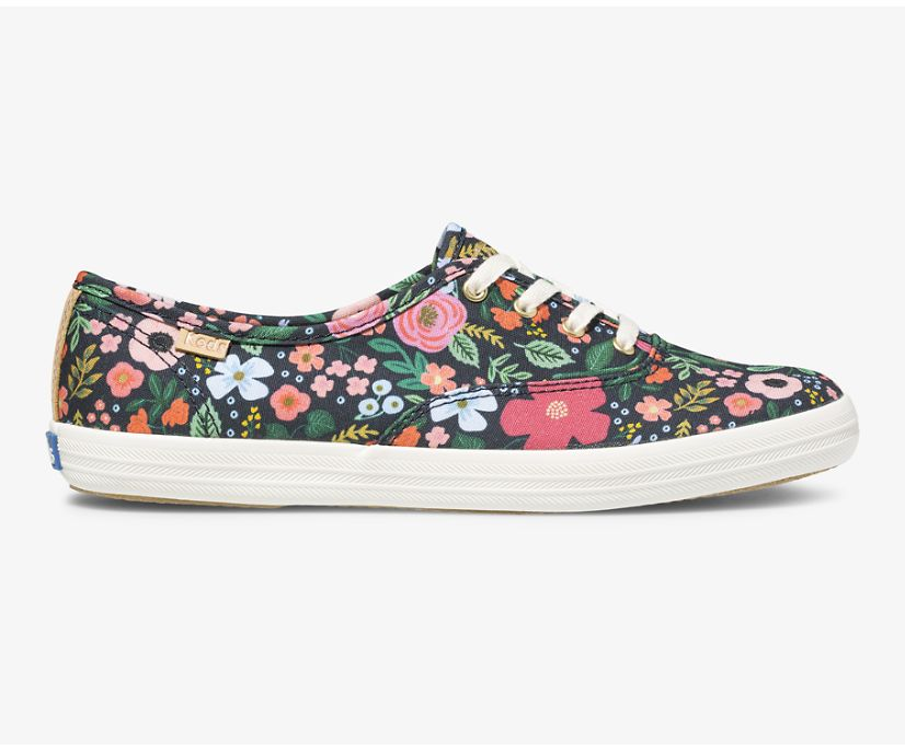 Keds x Rifle Paper Co Washable Champion Wild Rose, Navy, dynamic