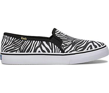 Double Decker Zebra, White Black, dynamic