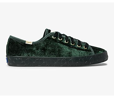 Keds x kate spade new york Kickstart Logo Foxing, Green, dynamic