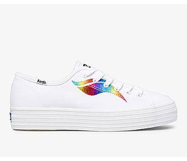 Triple Kick Rainbow Wave, White Multi, dynamic