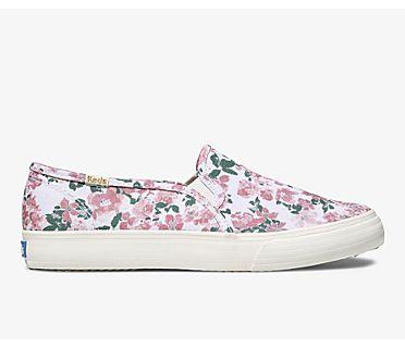 Double Decker Floral, White Pink, dynamic