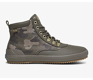 Scout Boot II Water-Resistant Camo Canvas w/ Thinsulate™, Olive Multi, dynamic